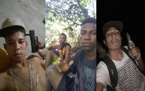 Segundo fotos que circulam pelas redes sociais, esses seriam bandidos de gangues locais que impõem o terror total em Pindorama BA
