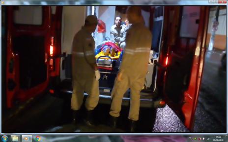Criança de seis anos socorrida pelos Bombeiros de Linhares após levar queda