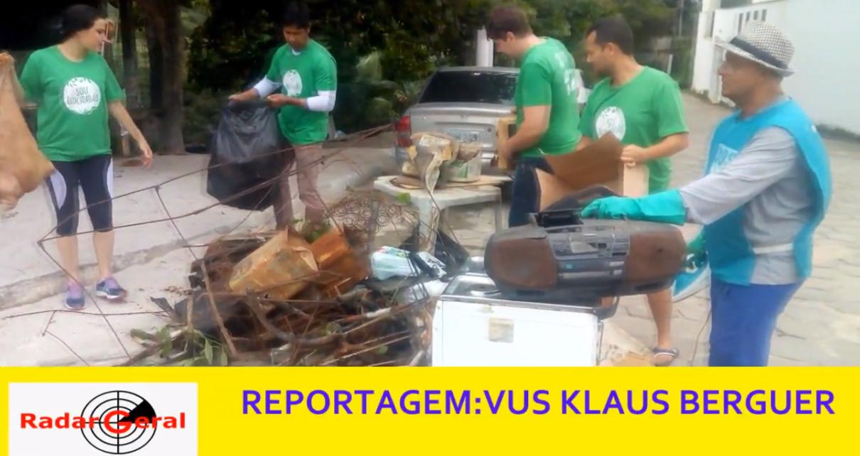 SITE TV RADAR GERAL - Recolhimento de lixo no leito do Rio Pequeno