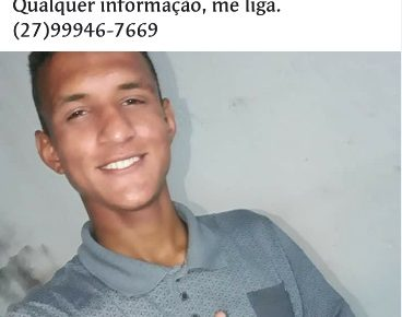Leandro Bolis Salustiano desaparecido em Linhares es radargeral.com