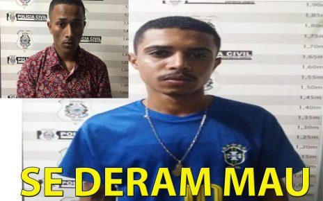 Foram presos Stevan Augusto de Souza, V. Mineiro e Guilherme Ferreira Vieira, Vulgo Cro, com mandados de prisão por homicídio. radargeral.com-1
