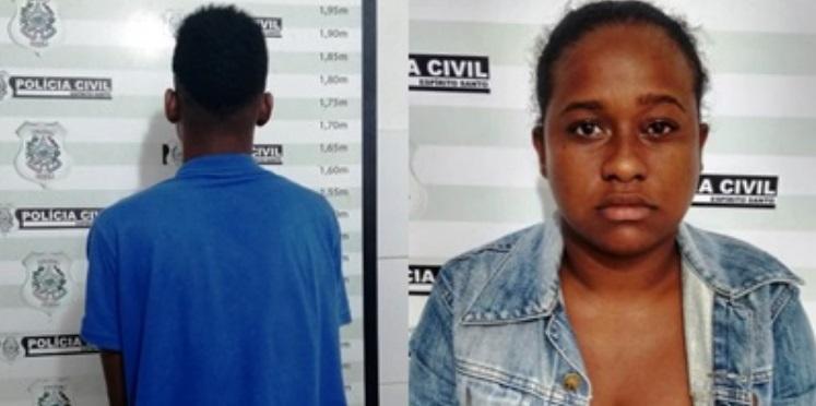 Foram detidos Nicácia Lopes, 22 anos, e um menor de 17 anos, e e