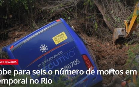CHUVA MATOU SEIS NO RIO RADARGERAL